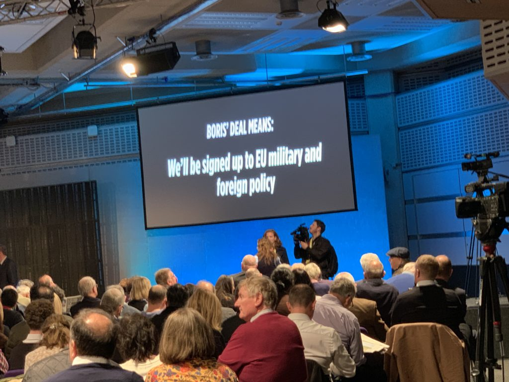 Brexit Party rally